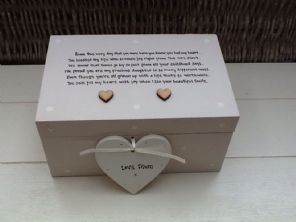 Shabby Personalised Chic Daughter EXTRA LARGE Gift Jewel Box Keepsake From Mum
